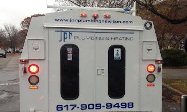 Photo: JPR Plumbing & Heating in Newton, MA proudly displaying their BBB Accreditation.