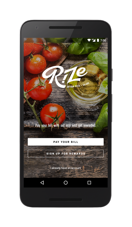 Rize Artisan Pizza + Salads- screenshot