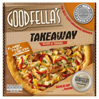 goodfellas takeaway slice n share flamin fajita chicken 607g