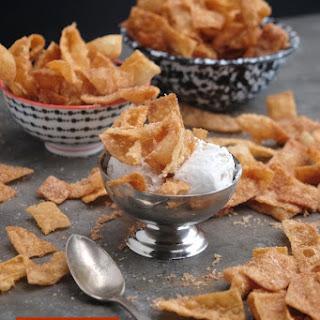 Cinnamon Sugar Wonton Crisps.