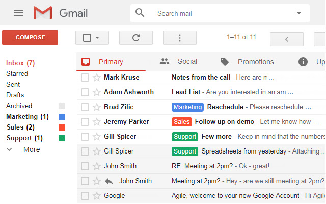 Gmail Classic/Old Theme by Agile Inbox