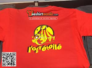Photo: Teeshirt imprimé en flex 3 couleurs L'Ogrétoilé