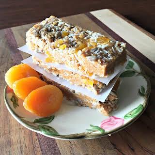 Coconut Apricot Gluten Free Granola Bars.