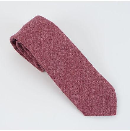 ETON röd enfärgad slips ull och viskos