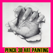 Pencil 3D Art Painting icon