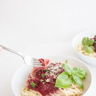 Fruity & Purple Spaghetti Bolognese.