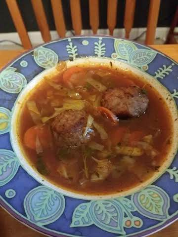 Spicy Italian Meatball Soup