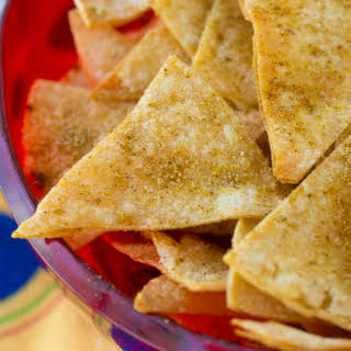 Homemade Cool Ranch Corn Chips.