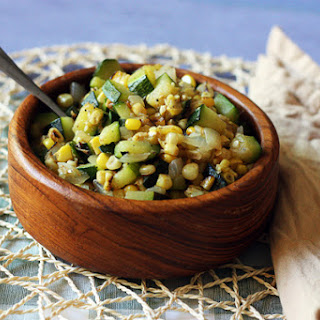 Skillet Corn with Zucchini & Onions