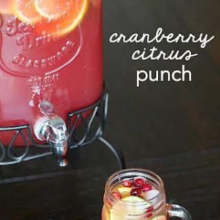 Cranberry Citrus Party Punch.