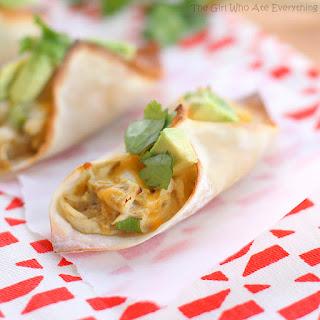 Chicken Verde Wonton Tacos.