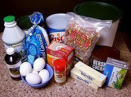 Mix butter, Crisco, sugar and egg yolks until creamy then add flour, vanilla, buttermilk...