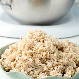Moist Homemade Shredded Chicken Breast.
