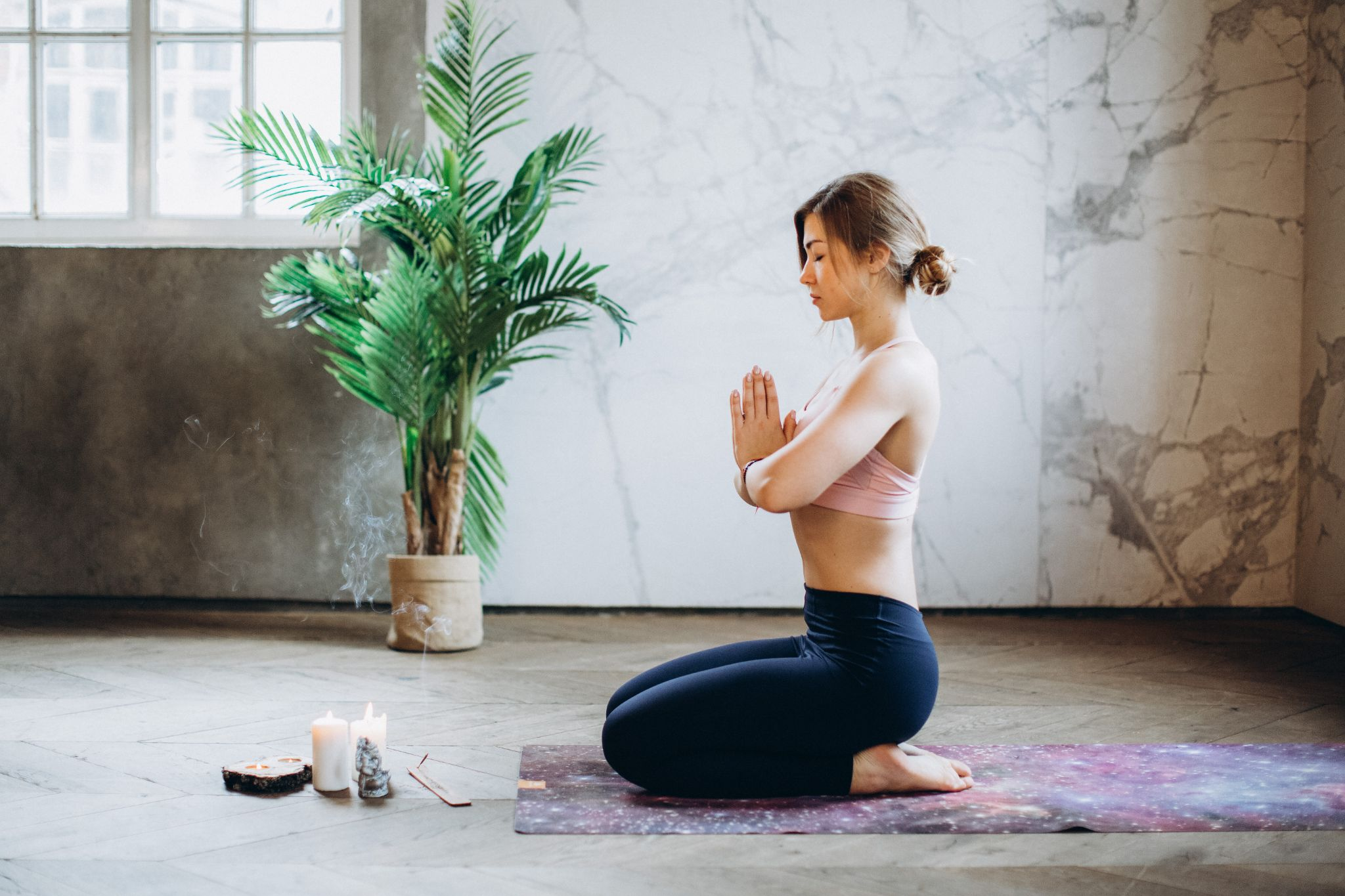 Yoga can be used as exercises for someone coughing