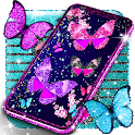 Glitter butterfly live wallpaper icon