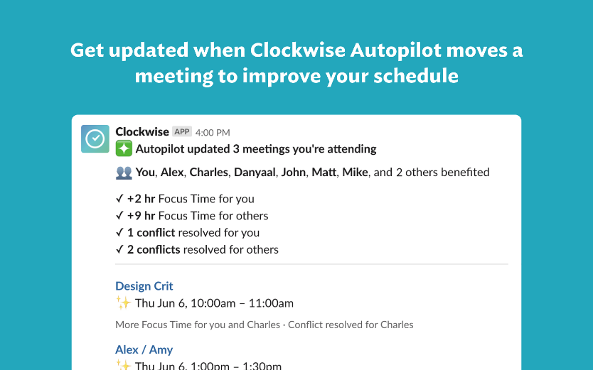 Clockwise online collaboration tool