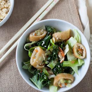 Crispy Spring Roll Asian Salad.
