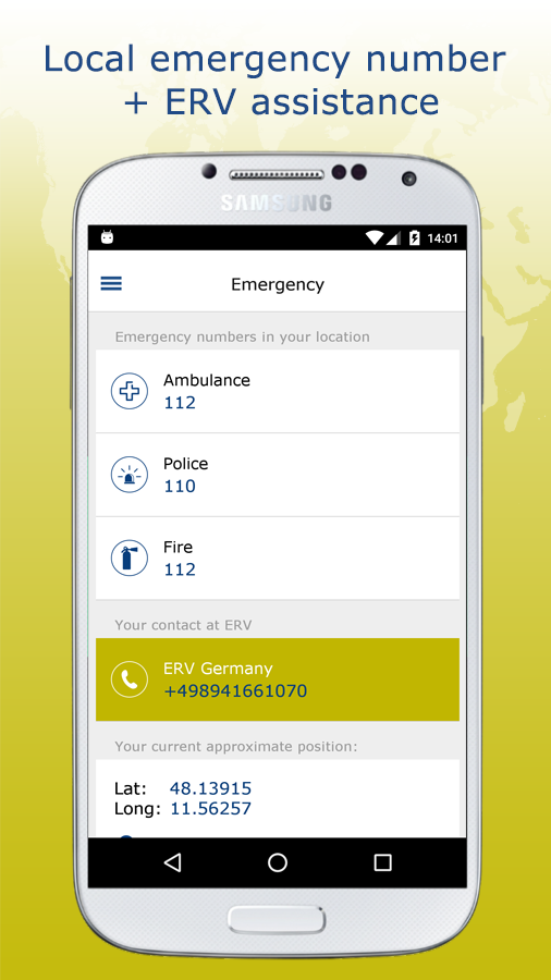 ERV travel & care- screenshot