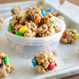 Monster Cookie Granola Bites