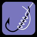 Fishing knots. icon