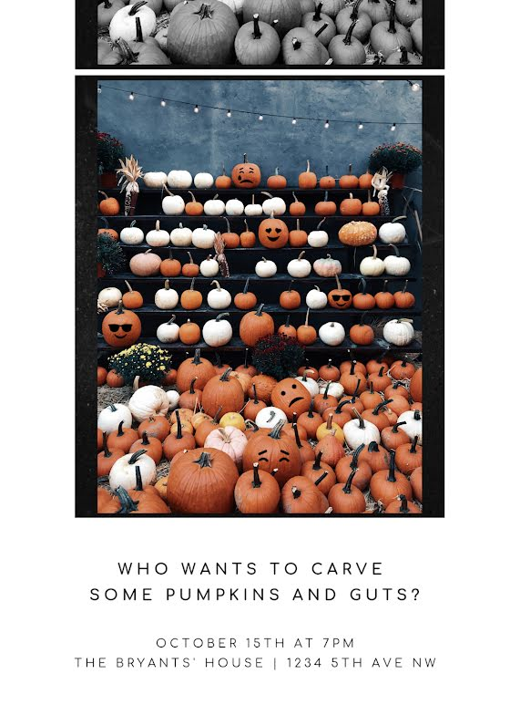 Carve Some Pumpkins - Halloween Template