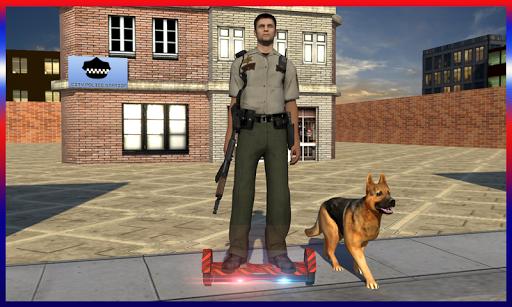 ホバーボード警官チェイス