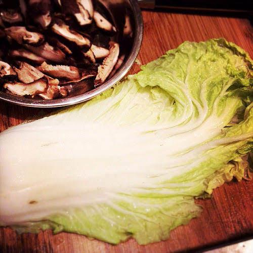 braised, cabbage, chinese, dried shrimp, mushroom, napa cabbage, recipe, 燜, 白菜, 蝦米, 香菇,