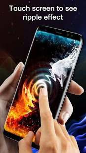 Live Wallpaper Background Ice and Fire - náhled