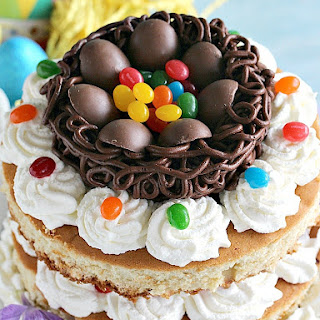 Strawberry Shortcake Easter Nest Cake