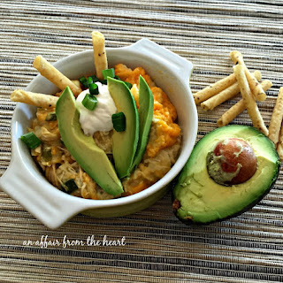 {Slow Cooker} Green Chile Chicken Enchilada Casserole.