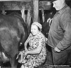 Photo: Klasboda 1950-tal. Ingrid och Gustav Andersson