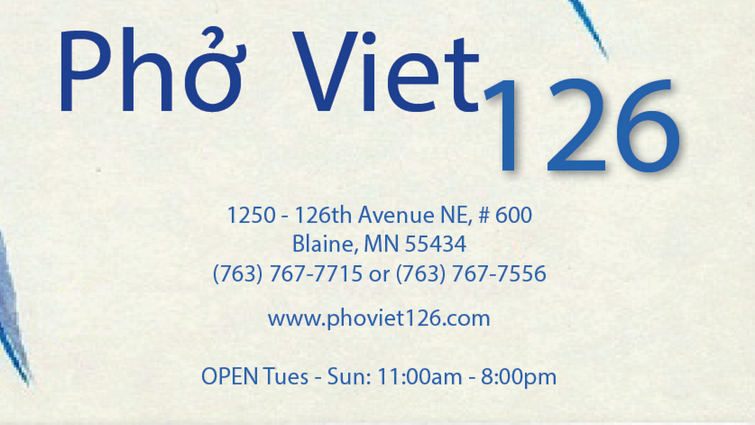 Phoviet 126 Vietnamese Restaurant Vietnamese Restaurant In Blaine