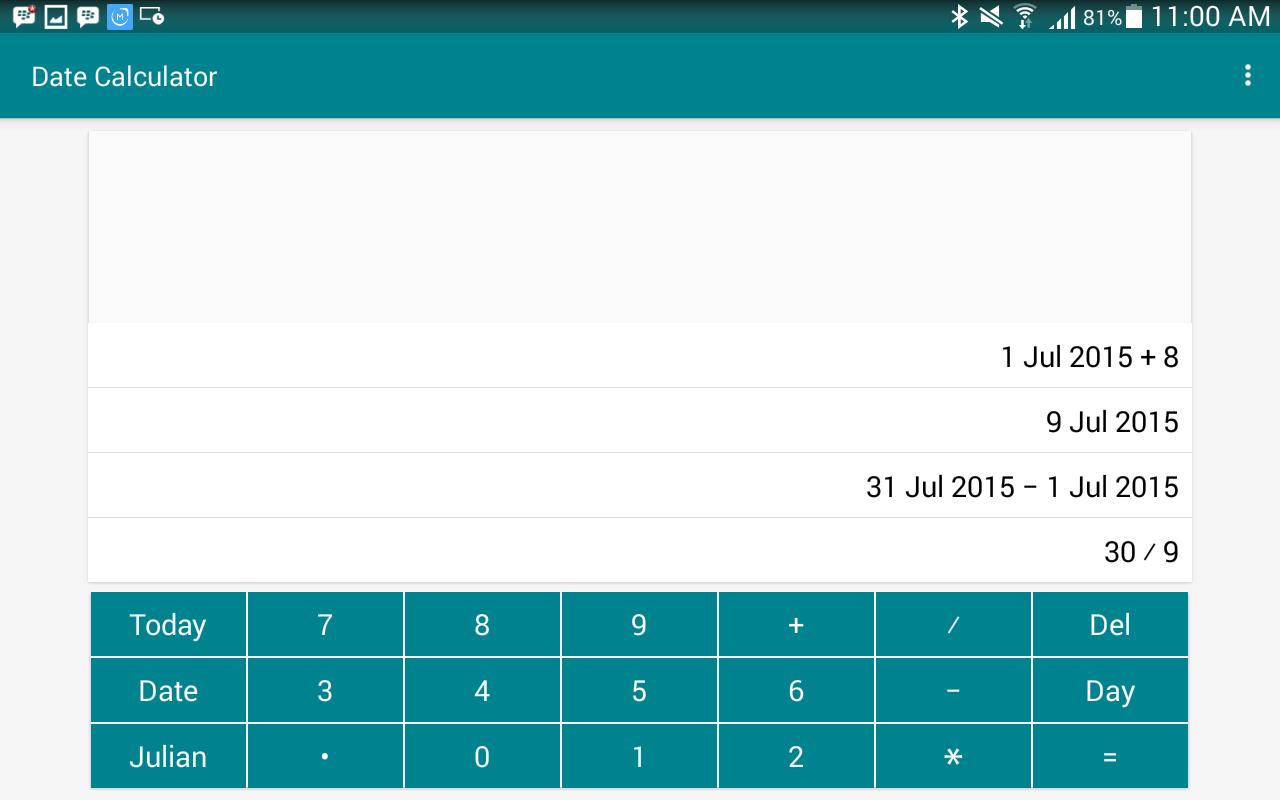Date calculator app