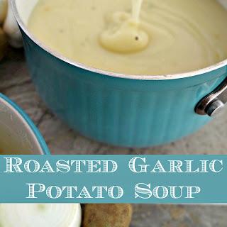 Roasted Garlic Potato Soup