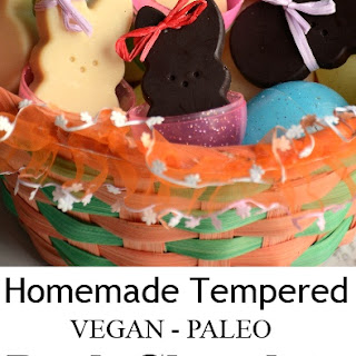 Tempered Dark Chocolate Bunnies - vegan - paleo.
