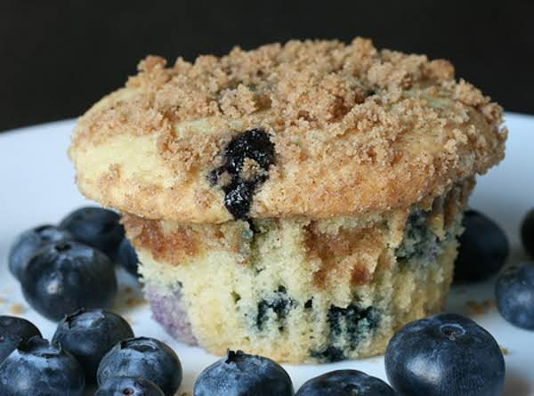 Blueberry Muffin Cupcakes With A Streusel Topping And Vanilla Icing...yummy!