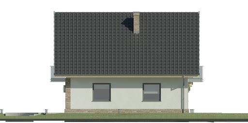 Dom przy Oliwkowej 4 N - Elewacja lewa