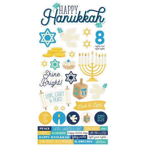 Simple Stories Sticker Sheet 6X12 - Happy Hanukkah