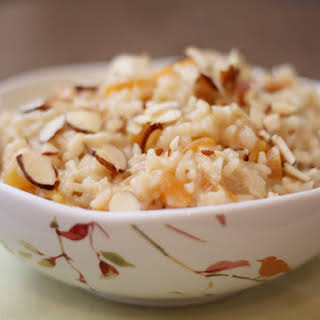 Apricot Brown Rice Pudding.