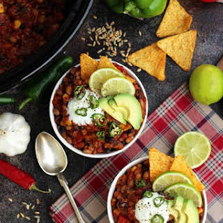 The Best Slow Cooker Vegan Chili.