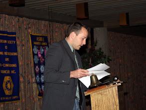 """Photo: Membership Chair Philipe """"Brad Pitt"""" Lemieux welcomed new members"""