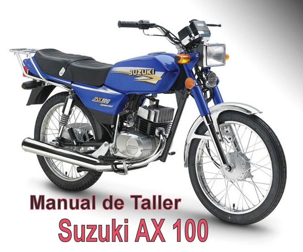 suzuki ax 100-manual-taller-despiece-mecanica