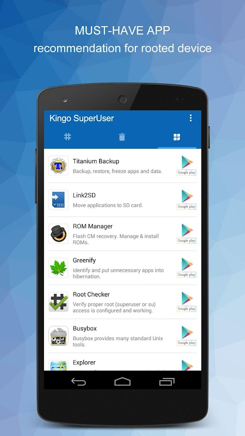 Kingo SuperUser [ROOT]- screenshot