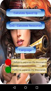 App Calculator for Guns of Glory (GoG) APK for Windows Phone