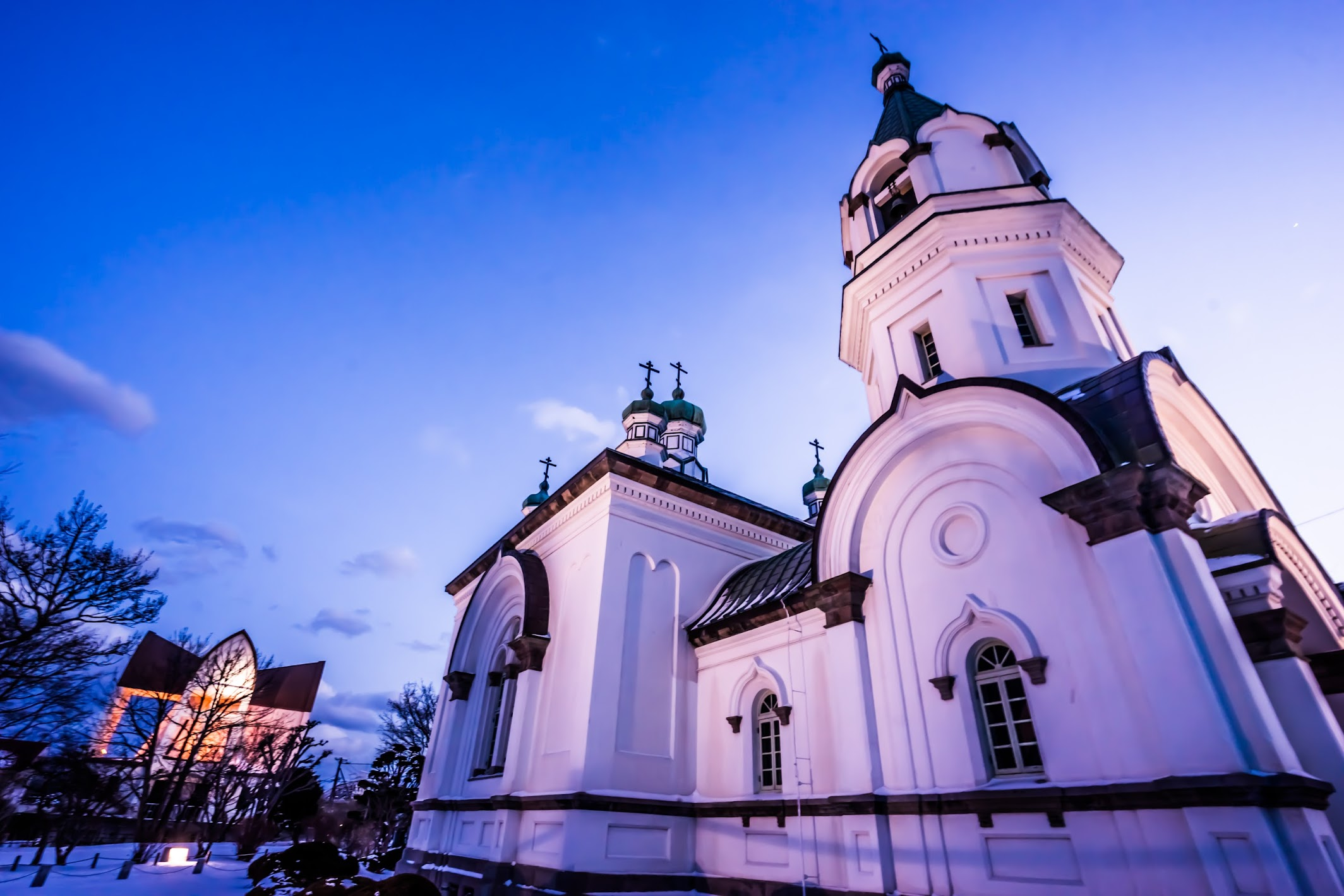 Hakodate Orthodox Church evening view1