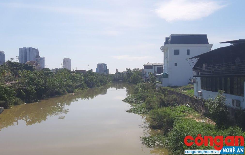 Sông Vinh bị lấn chiếm nghiêm trọng bởi quy hoạch Khu đô thị mới Cửa Tiền