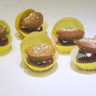 Fruity Burger Cupcakes