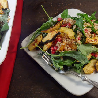 Pomegranate, Winter Squash and Sorghum Salad