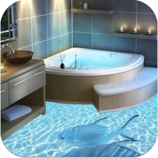 ارضيات حمام 3D