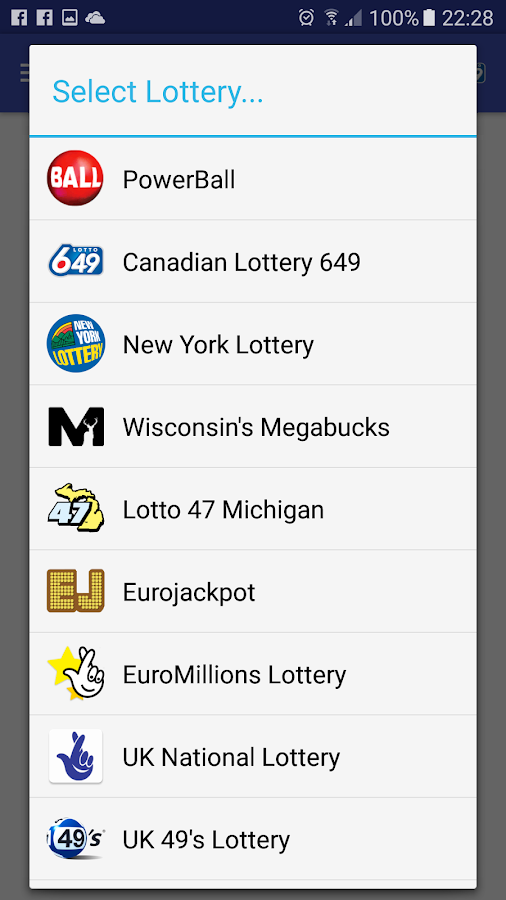 LottoSmart app lottery numbers- screenshot
